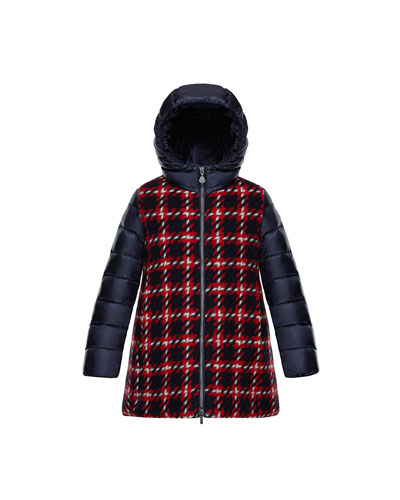 Curiosite Mixed Media Coat, Size 8-14
