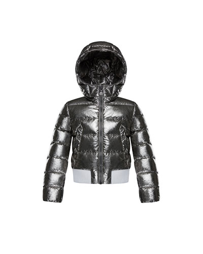 Verglas Metallic Quilted Coat, Size 8-14