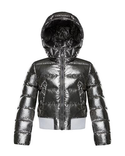 Verglas Metallic Quilted Coat, Size 4-6
