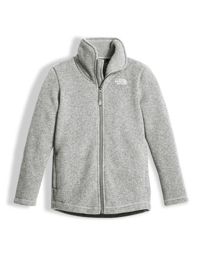 Girls' Crescent Full-Zip Fleece Jacket, Gray, Size XXS-XL