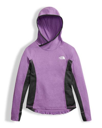 Girls' Long-Sleeve Reactor Hoodie, Purple, Size XXS-XL