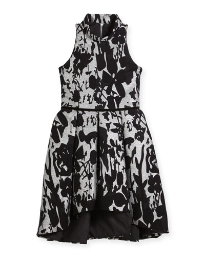 Evelyn Floral Halter Dress, Size 7-16