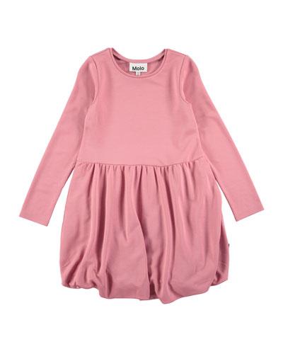 Clementine Long-Sleeve Bubble Dress, Size 3T-12