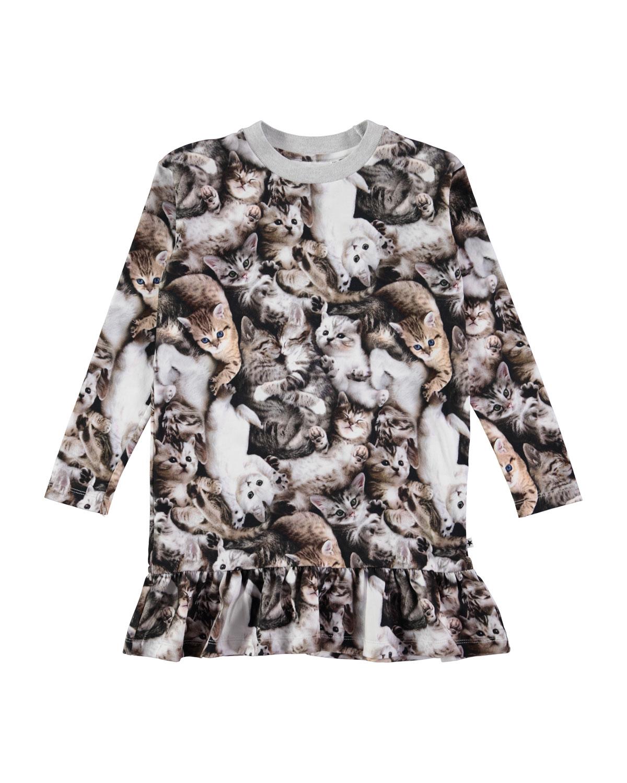 Molo Clothing CARAS LONG-SLEEVE KITTEN DRESS