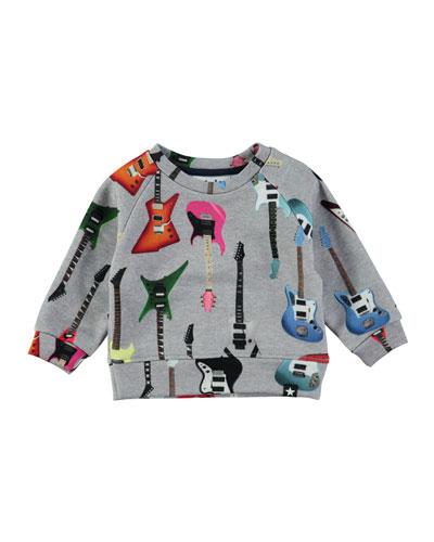 Dayne Guitar Sweatshirt, Size 12-24 Months