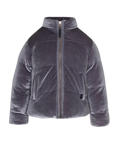 Hellen Velvet Puffer Jacket, Size 4-12