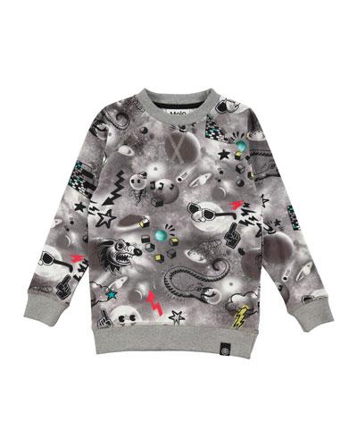 Romeo Long-Sleeve Space Sweatshirt, Size 4-10