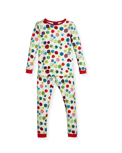 Printed Two-Piece Pajama Set, Size 2-8
