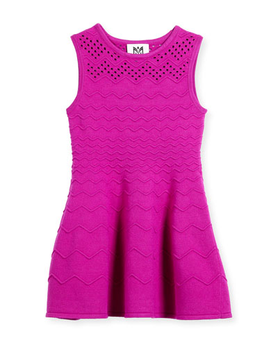 Chevron Ottoman Dress, Size 4-7