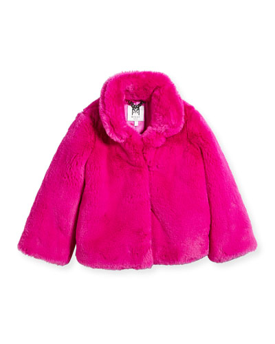 Faux-Fur Jacket, Size 8-14