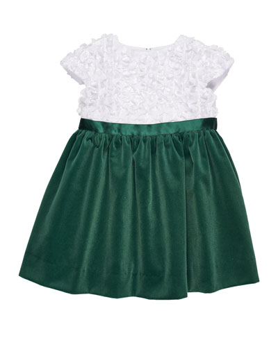 Flutter & Sequin Dress w/ Velvet Skirt, Size 3-24 Months