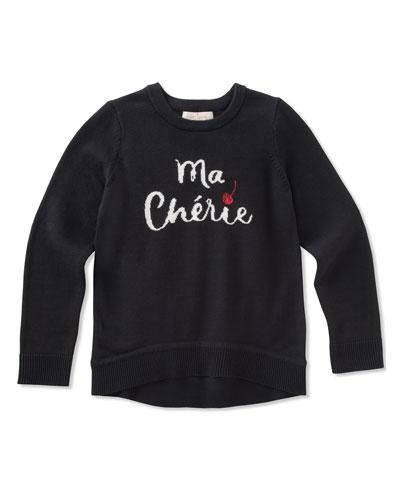 ma cherries knit sweater, size 2-6