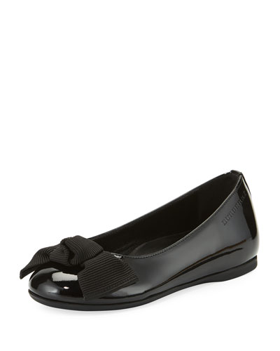 Trixie Patent Leather Ballet Flat, Black, Youth