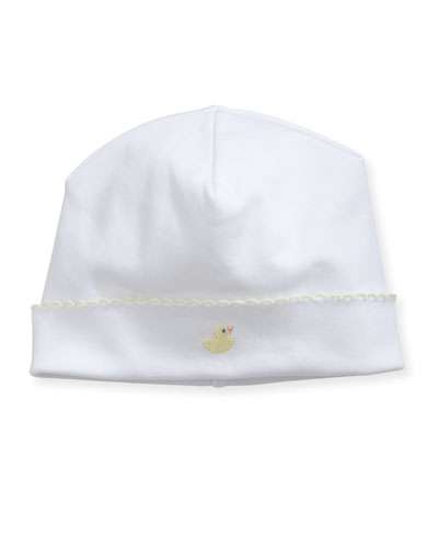 Duck Embroidered Pima Baby Hat