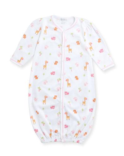 Safari Stroll Convertible Pima Gown, Size Newborn-Small