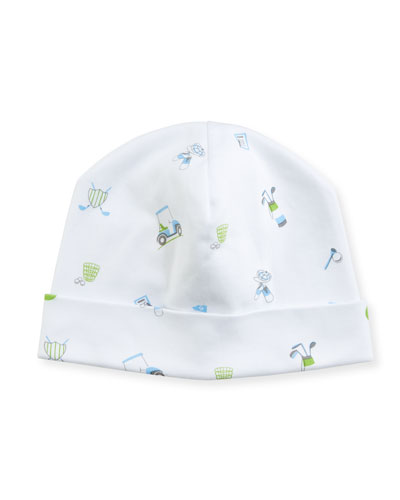 Daddy's Caddy Pima Baby Hat, Blue