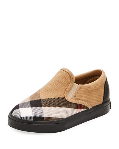 Linus Check Canvas Slip-On Sneaker