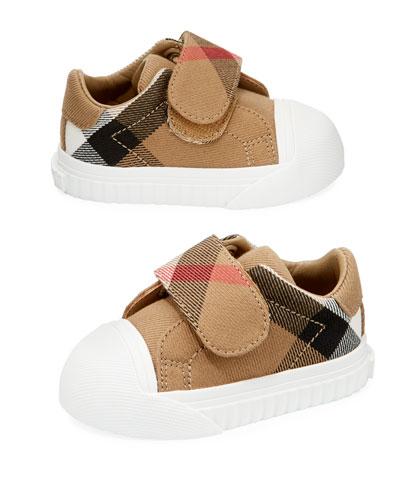 Beech Check Sneaker, Beige/White, Infant/Toddler