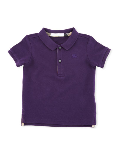 Palmer Short-Sleeve Polo Shirt, Purple, Size 6M-3Y