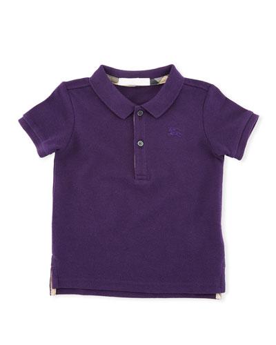 Palmer Short-Sleeve Polo Shirt, Purple, Size 6M-3Y