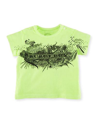 Rydon Scribble-Print Cotton T-Shirt, Size 6M-3Y