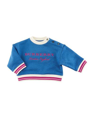 Emillia Logo Sweatshirt, Blue, Size 6M-3