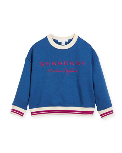 Eli Logo Sweatshirt, Blue, Size 4-14