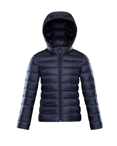 Iraida Hooded Lightweight Down Puffer Jacket, Navy, Size 8-14 Quick Look. Moncler