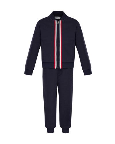 Zip-Up Cardigan w/ Joggers, Size 8-14