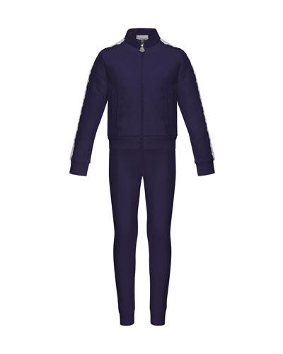 Terri Lace-Trim Jacket w/ Joggers, Size 4-6