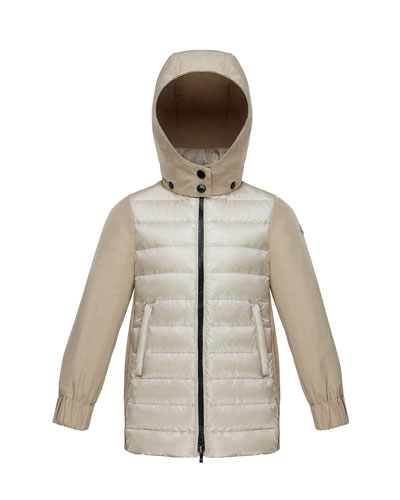 Cleofen Twill/Down Combination Coat, Size 8-14