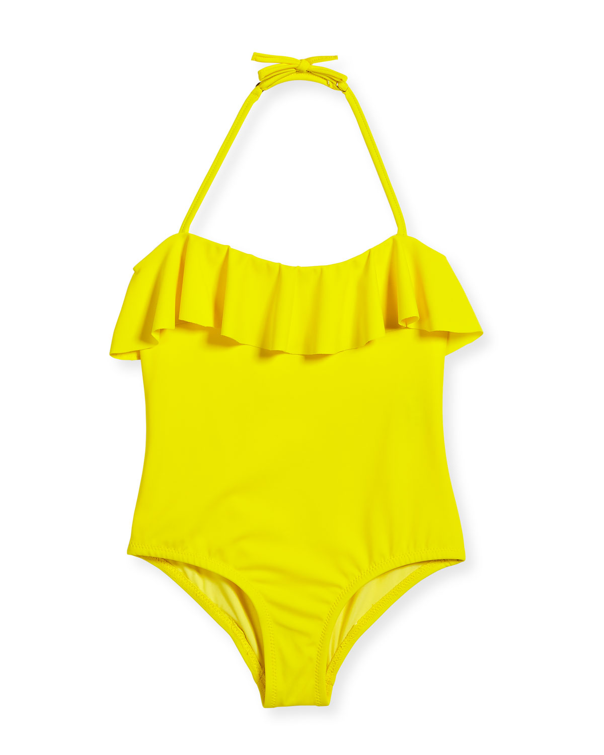 Ruffle Top One-Piece Swimsuit, Size 8-14