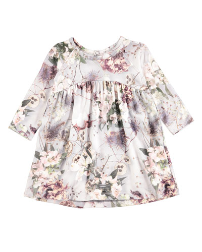 Carlys X-Ray Bloom Long-Sleeve Dress, Size 6-24 Months