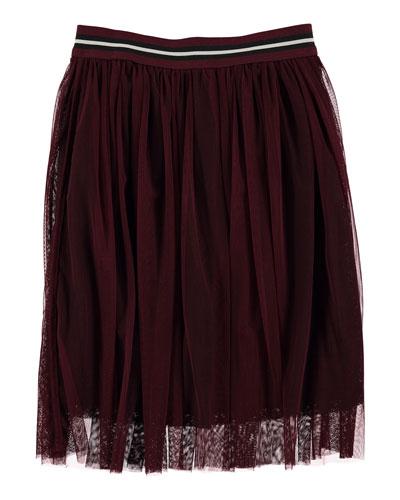 Baili Tulle-Overlay Skirt, Size 3T-14