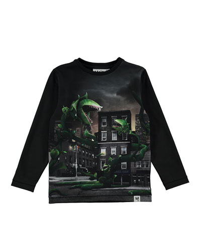 Rexol Plant Attack Printed Long-Sleeve T-Shirt, Size 4-10