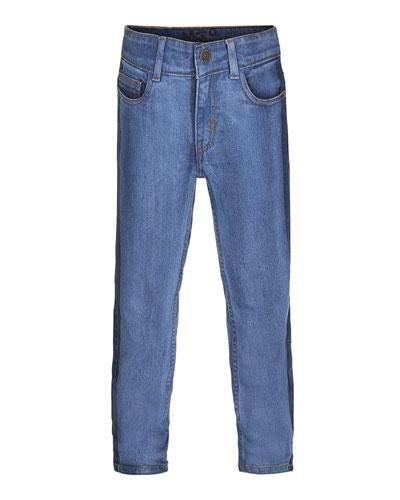 Alon Two-Tone Denim Jeans, Size 4-10