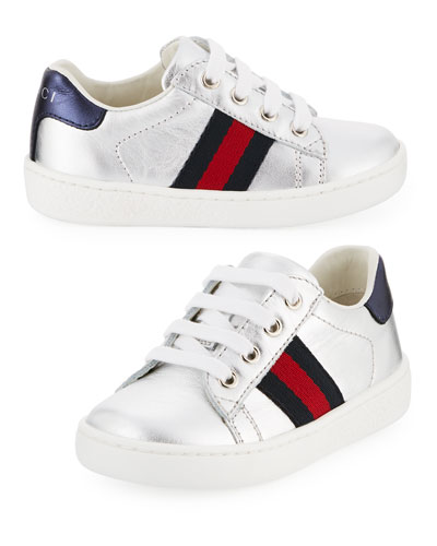 New Ace Metallic Leather Sneaker, Toddler