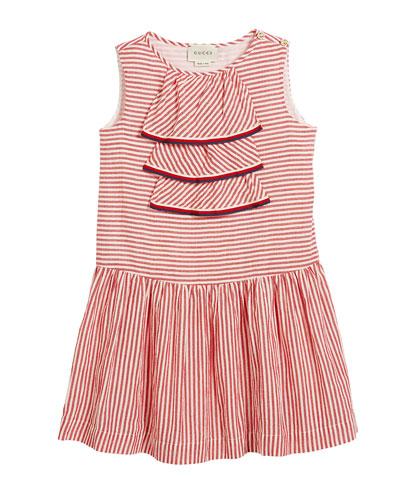 4a0a18221e6 Sleeveless Striped Dress w  Web Trim