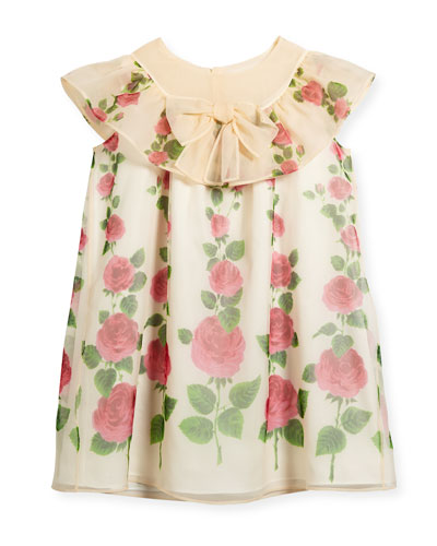 Rose Garden Ruffle Dress, Size 4-12