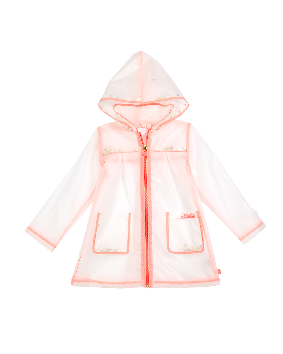 Transparent Sequin Raincoat, Size 4-8