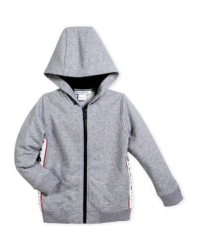 Givenchy Hooded Jacket w/ Logo Sides, Size 4-5