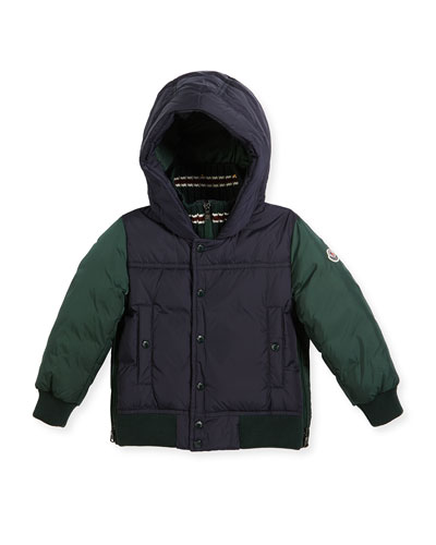 Luke Two-Tone Hooded Jacket, Size 8-14