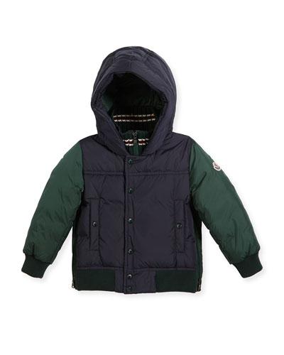 Luke Two-Tone Hooded Jacket, Size 8-14