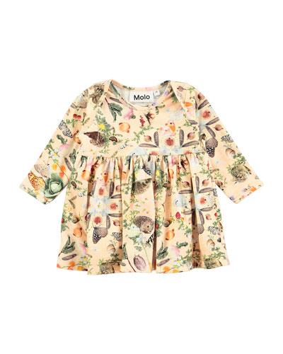 Cosima Long-Sleeve Garden-Print Shirt, Size 6-24 Months