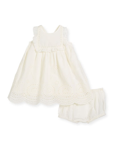 Henley Sleeveless Eyelet Dress, Size 6-36 Months