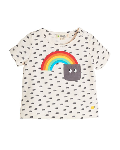 Rainbow to Pocket Short-Sleeve Printed T-Shirt, Size 3-24 Months