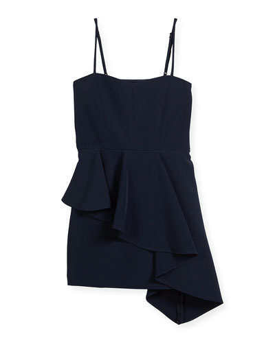 Elizabeth Cady Asymmetric-Peplum Dress, Size 8-16