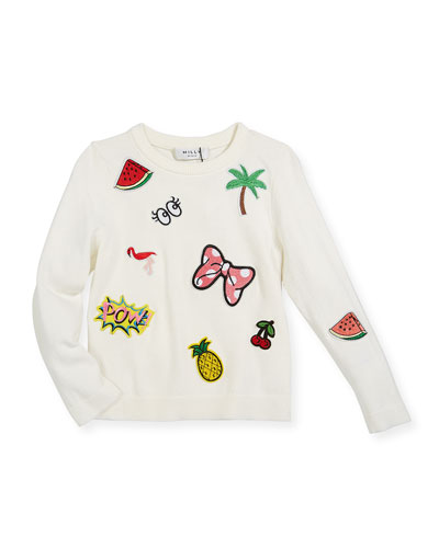 Patches Pullover Sweater, Size 8-14