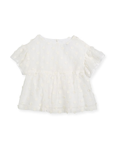 Lindy Daisy-Embroidery Blouse, Size 4-7
