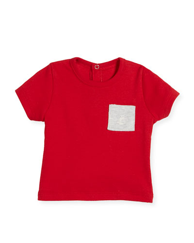 Short-Sleeve Cotton Pocket T-Shirt, Size 6-36 Months